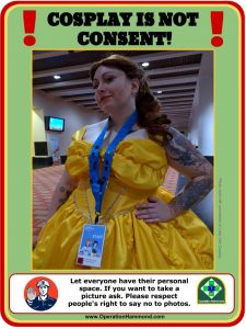 Cosplay is not consent V.1